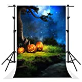 Kate 5x7ft Seamless Halloween Night Photography Backdrops Blue Sky Moon Background Photo Party Pumpkin Backdrop Booth (Color: 4683, Tamaño: 5x7ft)