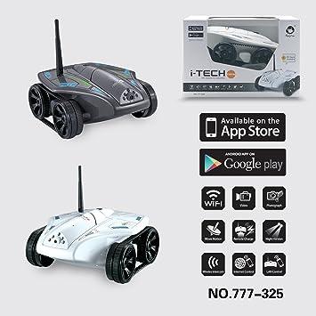 WayInn® Mini Wireless Tank Car Wifi RC caméra espion Réservoir Bonne vache 777-325 pour iPhone iPad iPod Controller Blanc-2016 Nouvelle arrivée