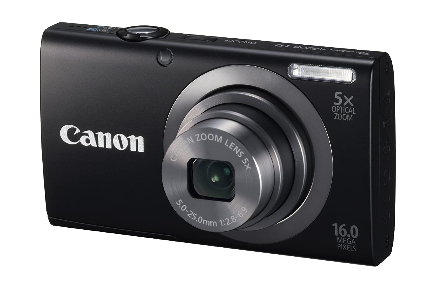 Canon PowerShot A2300 IS 16.0 MP Digital Camera with 5x Wide-Angle Lens,720p HD Video Recording (Black)