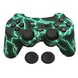 PS3 Controller Wireless - KPLN PS3 Remote Control Gamepad for PlayStation3, PS3 (Green) (Color: Lightning Green)
