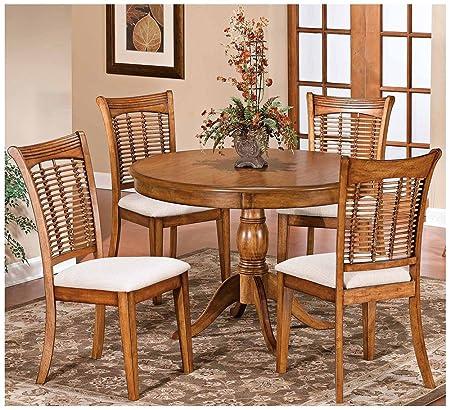 Bayberry 5 Piece Round Dining Set- Oak