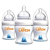 Munchkin Latch Anti-Colic Baby Bottle with Ultra Flexible Breast-like Nipple, BPA Free, 4 Ounce, 3 Pack (Color: White, Tamaño: 4 Ounce (3 Pack))