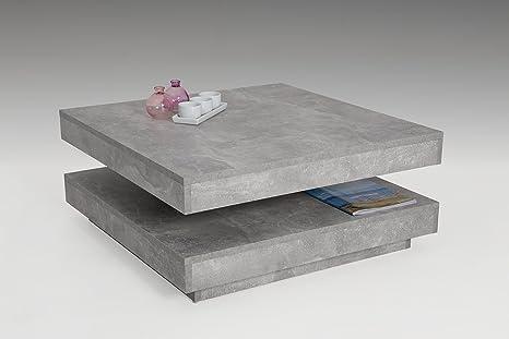 Couchtisch Beistelltisch Wohnzimmertisch - JUAN - 78x78 cm Beton Optik