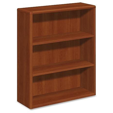 HON 10700 Series Cognac Laminated Fixed Shelves Bookcase 10753CO