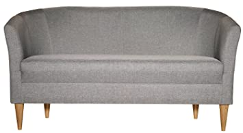 Sofa Mansfield, 144.0x77.5x60.0cm (BxHxT), hellgrau meliert, 1 Stuck