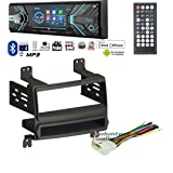 Volunteer Audio Power Acoustik PD-348B Double Din Radio Install Kit with Bluetooth, CD Player, USB/AUX Fits 2007-2010 Hyundai Elantra (External XM)