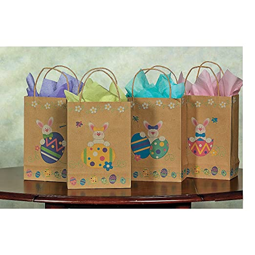 Easter party favor treat bags easter wikii 12 brown paper easter bunny eggs gift bags hunting for the perfect easter gift bags negle Image collections