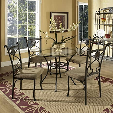 Brookfield 5-Pc Glass Dining Table Set by Steve Si