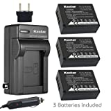 Kastar Battery 3-Pack + Charger for Fujifilm NP-W126 NP-W126s BC-W126 and Fuji HS30EXR HS33EXR HS35EXR HS50EXR X100F X-PRO1 X-PRO2 X-A1 X-A2 X-A3 X-A10 X-E1 X-E2 X-E2S X-E3 X-M1 X-T1 X-T2 X-T10 X-T20 (Color: 09 (COMBO: 3 BATTERIES + 1 NORMAL CHARGER KIT))