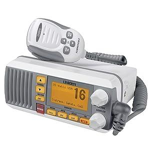 "All USA//International//Canadian Marine Channels including new 4-Digit Black Uniden UM435BK Advanced Fixed Mount VHF Marine Radio Waterproof IPX8 Submersible CDN /""B/"" Channels 1 Watt//25 Watt Power"