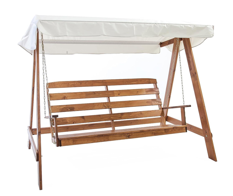 Ambientehome Hollywoodschaukel 3-Sitzer Holzschaukel Schaukel Massivholz VETLANDA, braun günstig kaufen