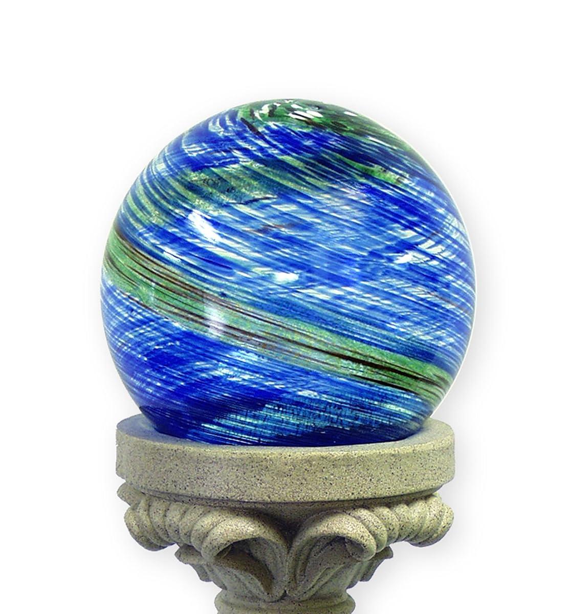 Echo Valley 8140 10-Inch Glow-in-the-Dark Illuminarie Glass Gazing Globe, Light Blue Swirl