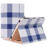 ProCase Samsung Galaxy Tab A 9.7 Case, Standing Cover Folio Case for 2015 Galaxy Tab A Tablet (9.7 Inch, SM-T550 P550), with Multiple Viewing angles, Document Card Pocket - Plaid (Color: z- Plaid, Tamaño: Galaxy Tab A 9.7)