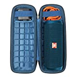 Hard Travel Case for JBL Flip 4 Waterproof Portable Bluetooth Speaker by CO2CREA (Size 3 -Outer Black and Inner Ocean Blue) (Color: Size 3 -Outer Black and Inner Ocean Blue)