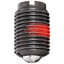 "Jergens 10812 Steel Ball Plunger, Low Carbon Steel, 3/8"" Thread"