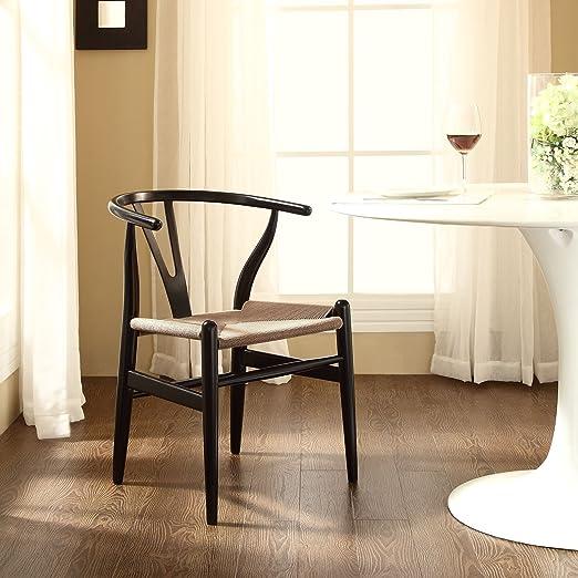 Amish Wood Armchair, Black