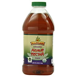 Madhava Organic Agave Nectar Raw 46 Ounce (Pack of 2)