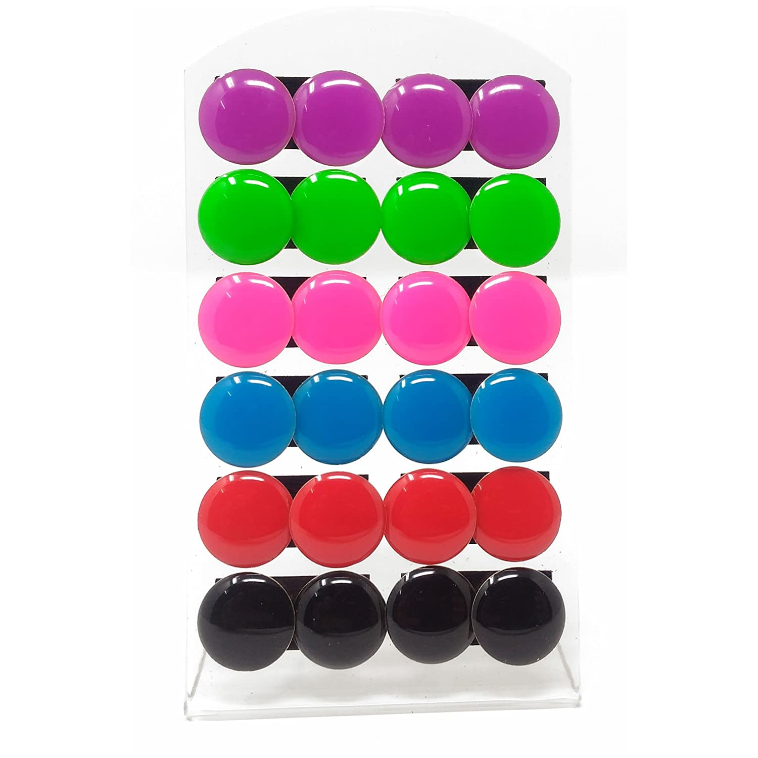 Buy Anokhi Ada Plain Multicolour Trendy Circular Stud Earrings For Girls  And Women (combo Of 12 Pairs) (jeb1022) Online At Low Prices In India   Amazon
