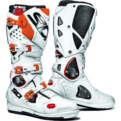 MFIRE2SRS BARA - Sidi Crossfire 2 SRS Motocross Boots 42 White/Orange (UK 8)