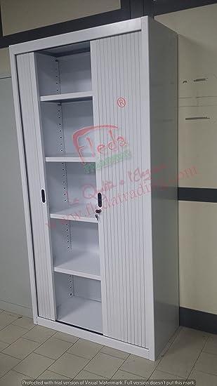 Armoire Metallique à Portes à Rideaux Blanc (100x45x200h)