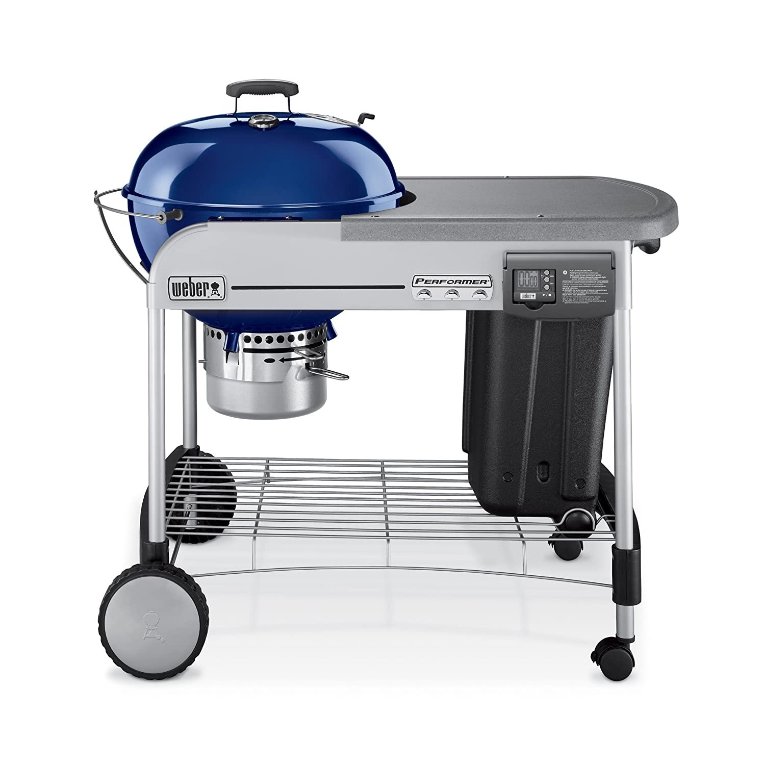 Weber 1488001 Performer Platinum Charcoal BBQ Outdoor Grill in Blue Green at Sears.com