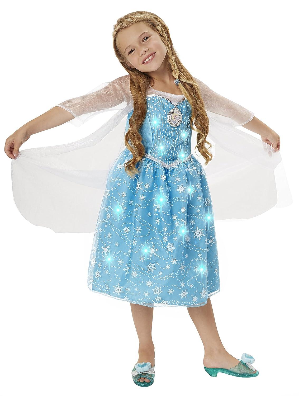Disney Frozen Elsa Musical Light Up Dress New Free