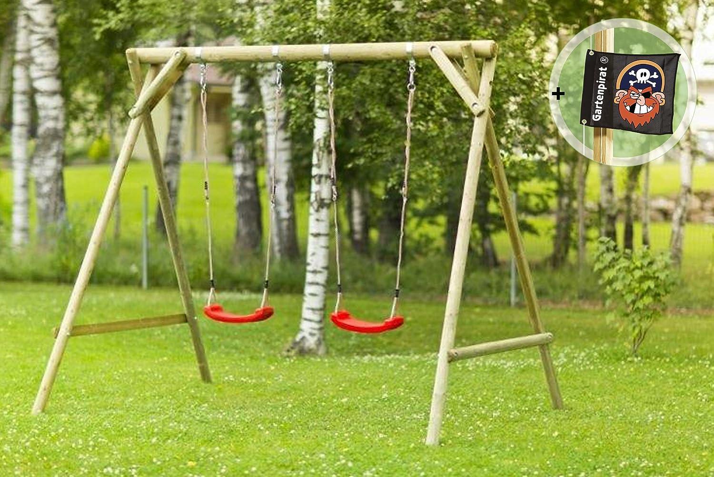 Schaukelgerüst Classic-Base 1.2 Holz-Schaukel für zwei Kinder im Garten von Gartenpirat® günstig bestellen