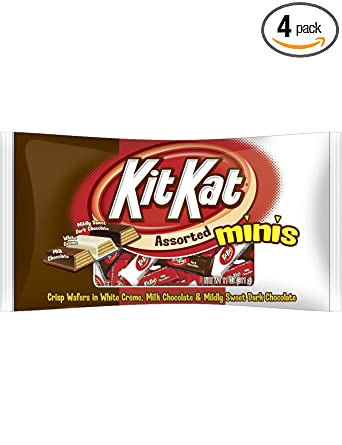 Kit Kat Assorted Minis, Crisp Wafers in Milk Chocolate, 11-Ounce Bags (Pack of 4)