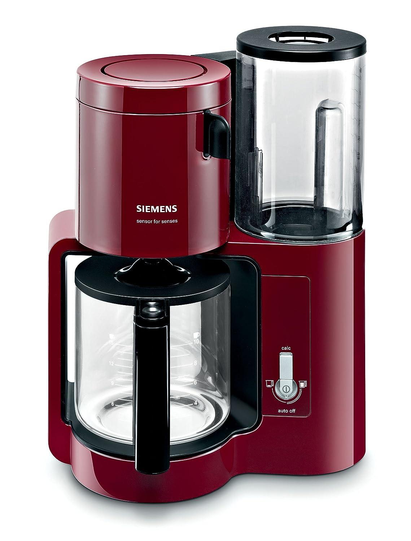 Siemens TC80104 - Cafetera automática (1160 W, 10-15 tazas), color rojo