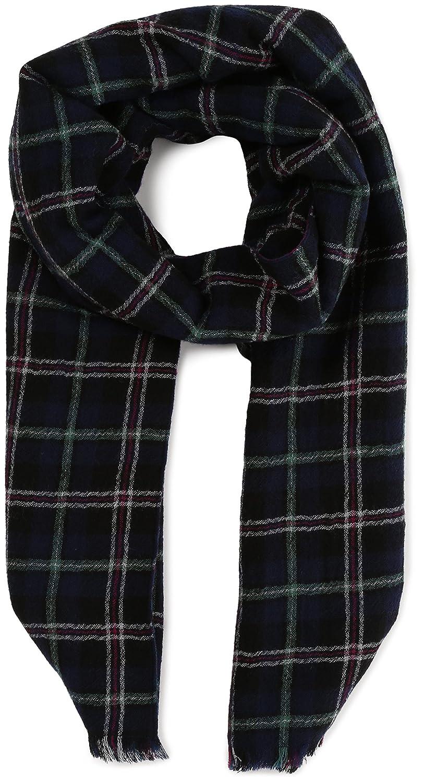 Amazon.co.jp: (ナイン)NINE ダブルチェックストール 22211372 69 ネイビー F: 服&ファッション小物通販