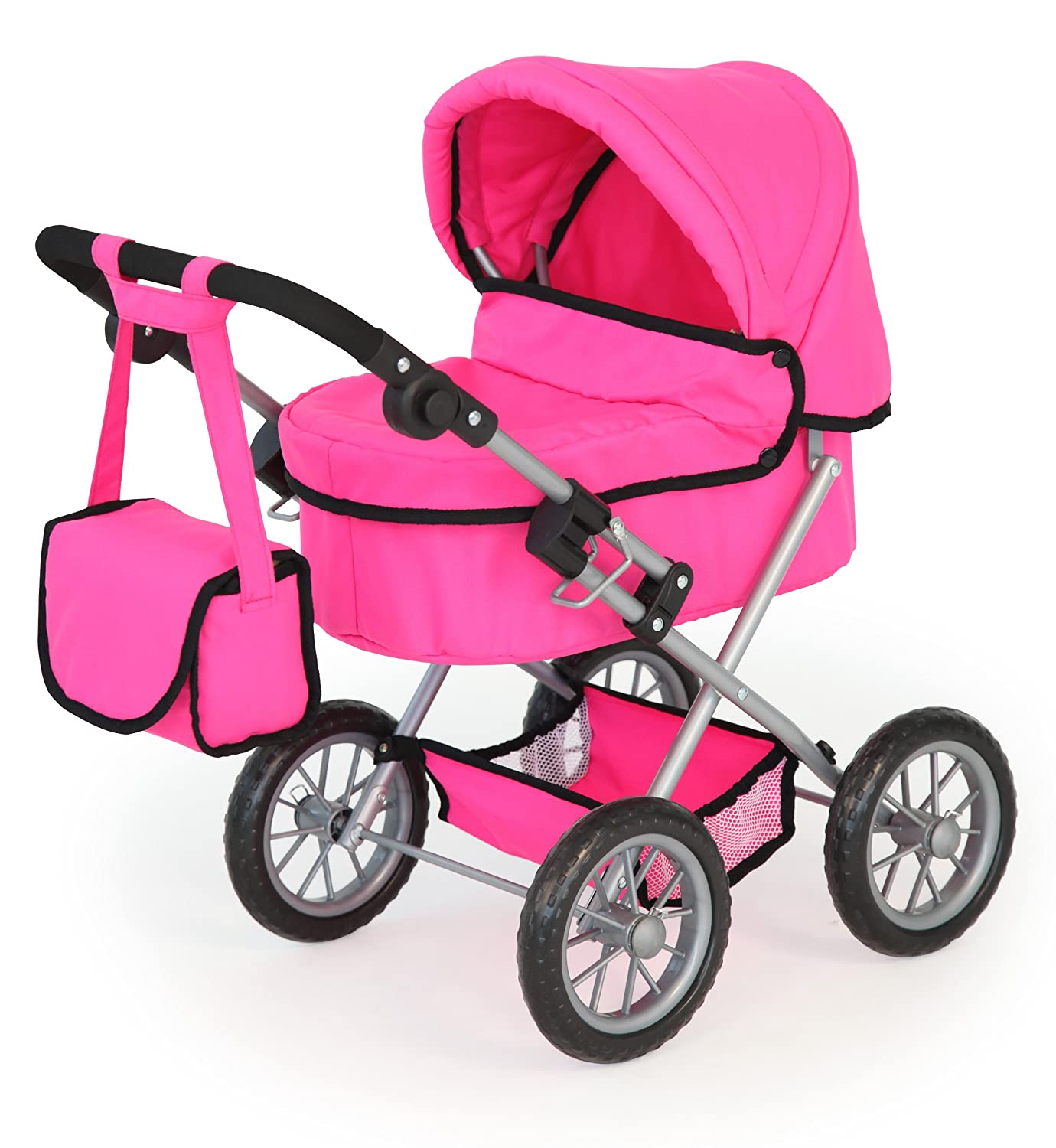 baby doll pram pink girls child junior toy play game dolls. Black Bedroom Furniture Sets. Home Design Ideas