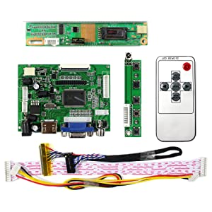 HDMI VGA 2AV Input LCD Controller Board For 14.1 15.4 LP141WX3 LP154W01 LP154WX3 1280x800 30Pins LCD Panel