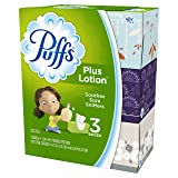 Puffs Plus Lotion Facial Tissues - 124 ct - 3 pk (Tamaño: 3 boxes)