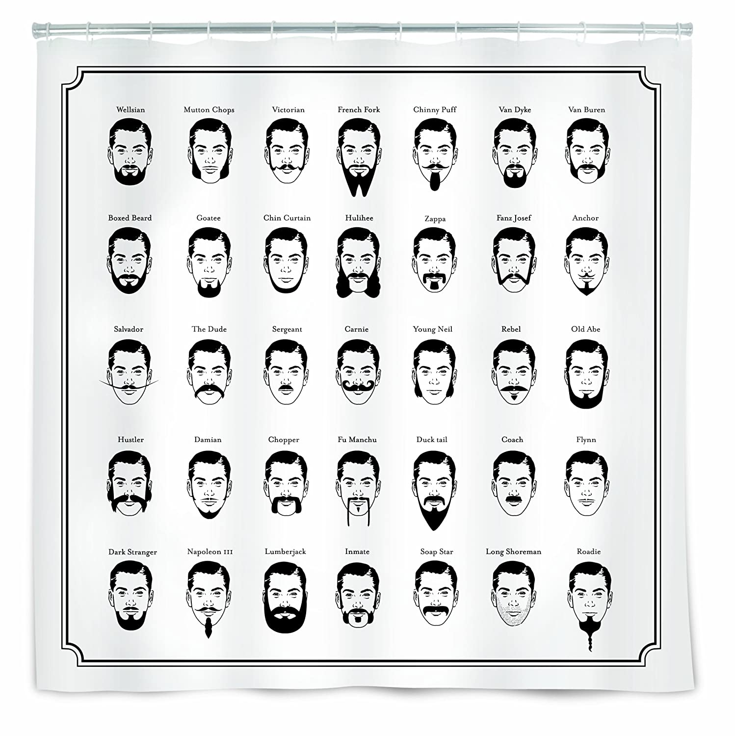 The Gentleman's Shower Curtain, 72-Inch by 72-Inch