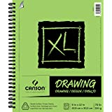 Canson XL Series Drawing Paper Pad, Micro Perforated, Smooth Surface, Side Wire Bound, 70 Pound, 9 x 12 Inch, 60 Sheets (Color: White, Tamaño: 9
