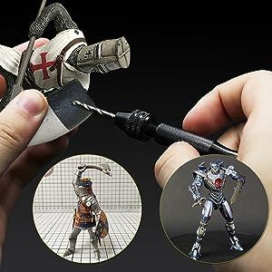 Pin Vise Hand Drill Bits(20PCS), Micro Mini Twist Drill Bits Set with Precision Hand Pin Vise Rotary Tools for Wood, Jewelry, Plastic etc (0.6-3.0mm) (Tamaño: 20-1)