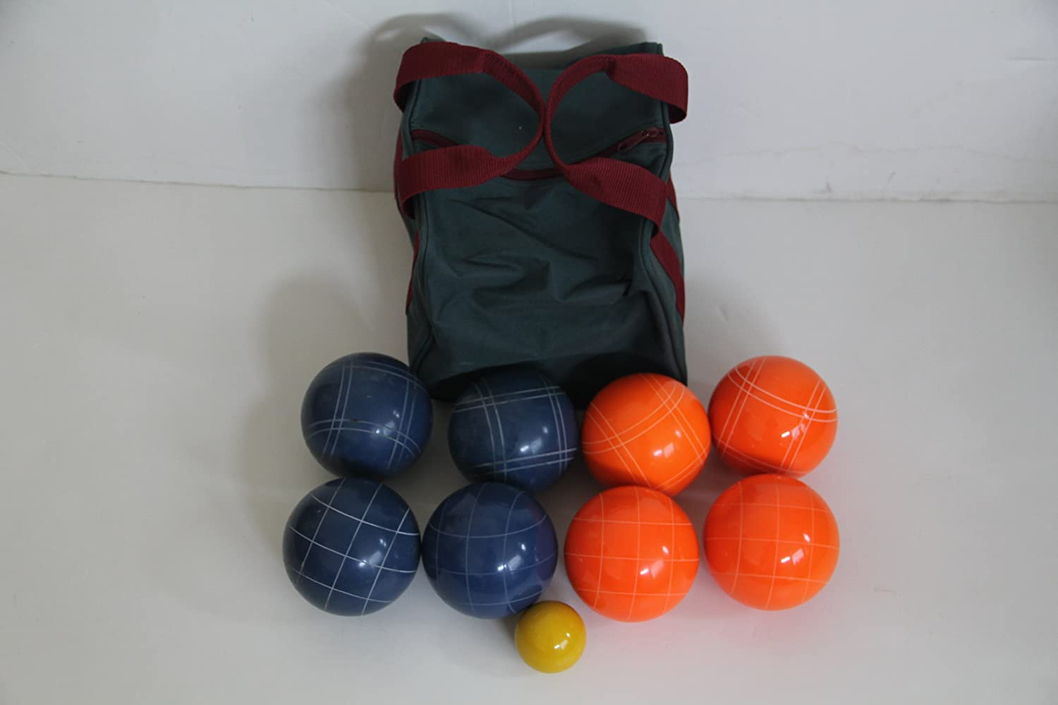 Premium Quality EPCO Tournament Bocce Set - 110mm Blue and Orange Bocce Balls...