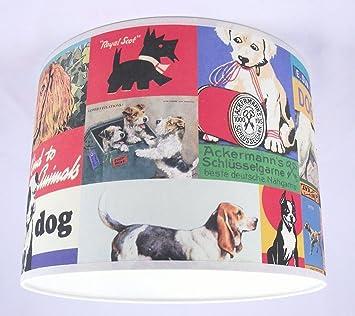 abat jour fait main 20cm 20cm cavallini vintage chiens cuisine maison m259. Black Bedroom Furniture Sets. Home Design Ideas