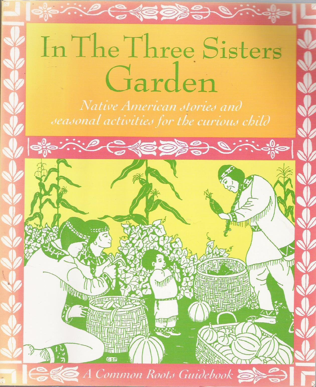 Three Sisters Garden Coloring Page in The Three Sisters Garden