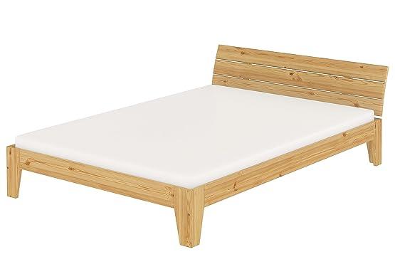 Solido largo letto 140x200 in pino Eco laccato con assi di legno e materasso 60.54-14 M