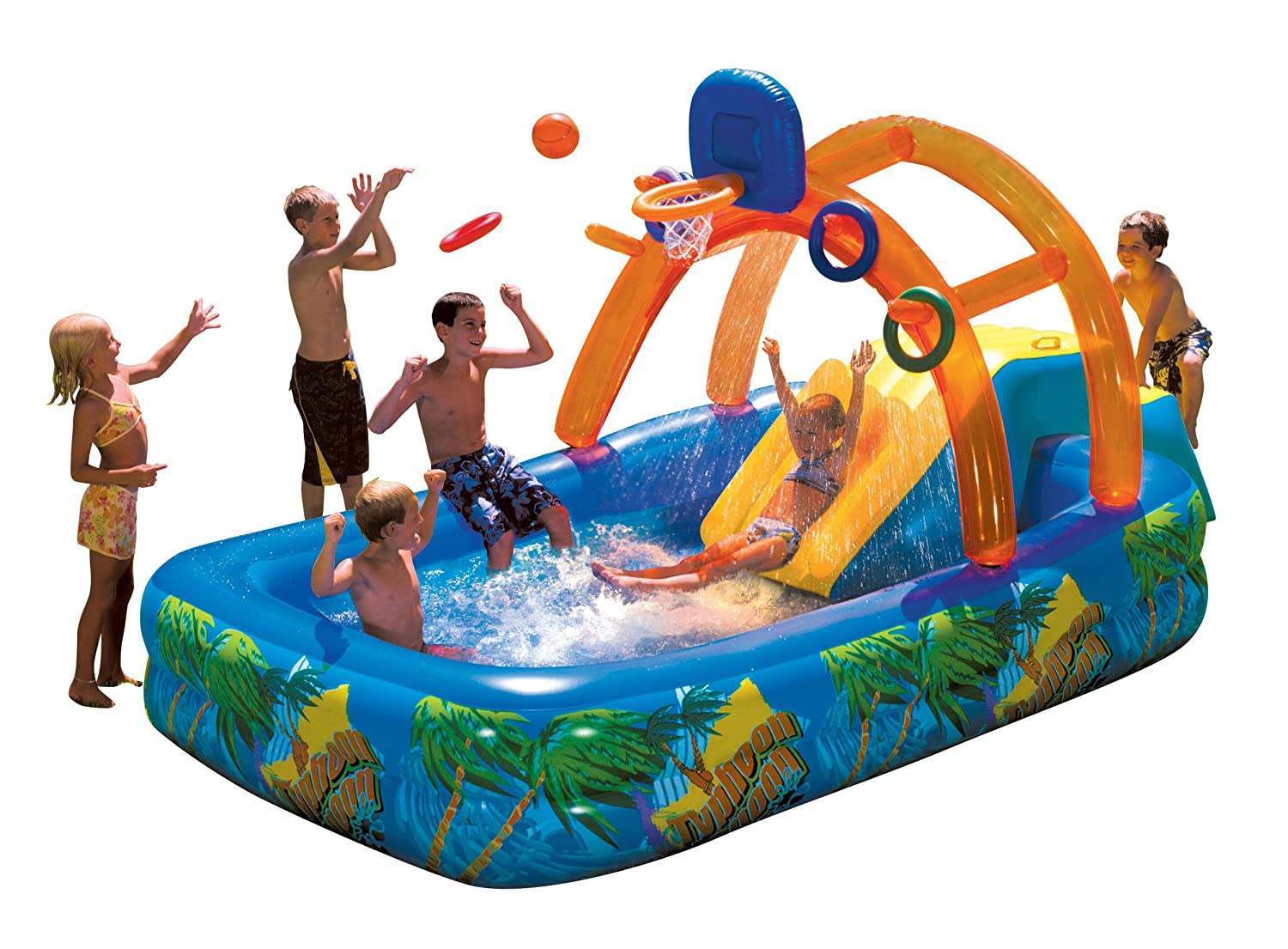 Inflatable water park slide pool commercial bounce house for Piscine playmobil
