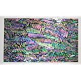 Shiny Paint Surface Flexible/Flat Enhanced Black/White/None Base Adhesive Veneer Sheet (Shiny Painted Cutline Sligtly Flexible, Dragon Abalone Prism) (Color: Dragon Abalone Prism, Tamaño: Shiny Painted Cutline Sligtly Flexible)