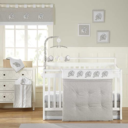 Laugh Giggle and Smile Elephant Chic Baby Bedding