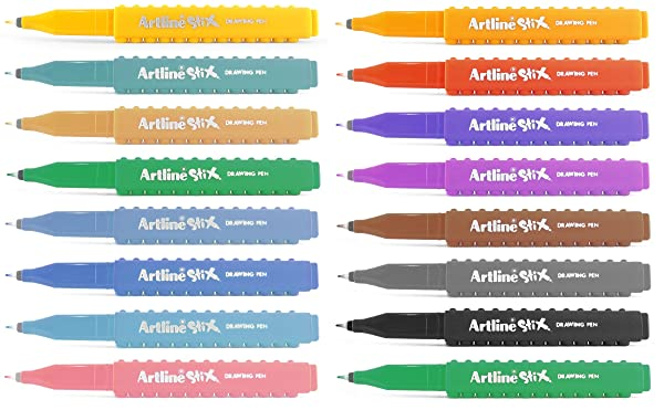 Artline ETX Stix Connecting Drawing Pens - Pack 16
