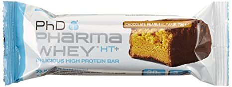 PHD Pharma Whey HT+ Bar - Chocolate Peanut (12 Riegel), 1er Pack (1 x 900 g)