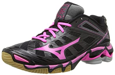 Mizuno Women's Wave Lightning RX3 Volley Ball Shoe,Black/Pink,6 M US