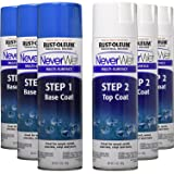 Rust-Oleum NeverWet 14-Ounce Multi Purpose Base Sealer and Top Coat 6-Can Bulk Spray Kit, Frosted Clear (Color: Frosted Clear)