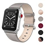 SWEES Leather Band Compatible Apple Watch 38mm 40mm, Genuine Leather Soft Elegant Replacement Strap Compatible iWatch Apple Watch Series 4, Series 3, Series 2, Series 1, Sports & Edition Women, Gray (Color: 14. Gray)