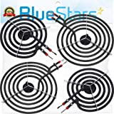 MP15YA (2pcs) & MP21YA (2pcs) Electric Range/Burner Element Replacement Part by Blue Stars - Exact Fit for most Electric Ranges/Stoves - Replaces 5304431014, WB30T10089, Y04000033, Y04000033 (Color: As Pictured)