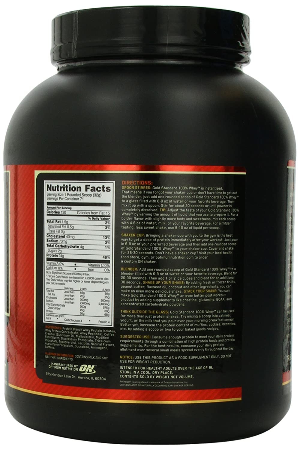 ON Whey Gold Standard - 5 lb Coffee